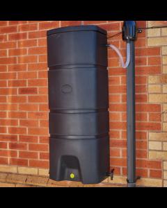 160L Terracottage Wallmounted Water Butt & WHITE Gutter Mate Diverter Bundle